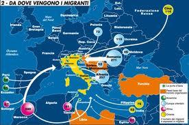 L'ITALIA CRESCE DI NUMERO CON GLI IMMIGRATI. QUESTI INVESTONO MOLTI CAPITALI NEI PAESI DI PROVENIENZA