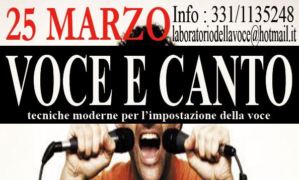 CANTO E VOCE – 25 MARZO TUTTO IN UN GIORNO- STAGE FULL IMMERSION