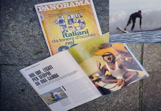 Surfa senza una gamba e salva un bambino ustionato, articolo per Panorama