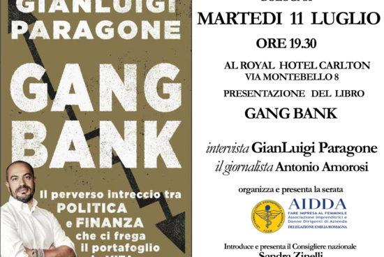 Il libro di Paragone, Gang Bank, presentato a Bologna