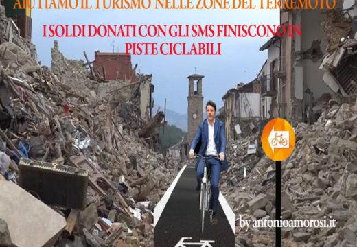 I milioni donati con gli sms ai terremotati finiscono in una pista ciclabile