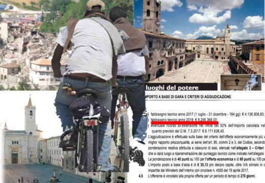 Ma quali aiuti urgenti ai terremotati. Ma quali italiani senza lavoro. Vengono prima i migranti. 8,2 milioni per farli lavorare gestiti dalle coop