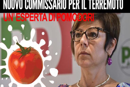 Un'esperta di pomodori a commissario del terremoto